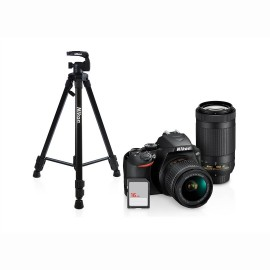KIT NIKON D3500 AF-P DX NIKKOR 18-55MM - TRIPIE- SD CARD 16 GB