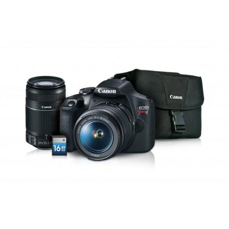 KIT T7 CANON EF-S 18-55 IS+ 55-250+GB 200ES+ SD